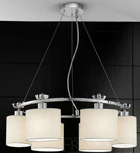 The Piazza Round Pendant with 6 Lights - Franklite FL2181/6 suspension lamp