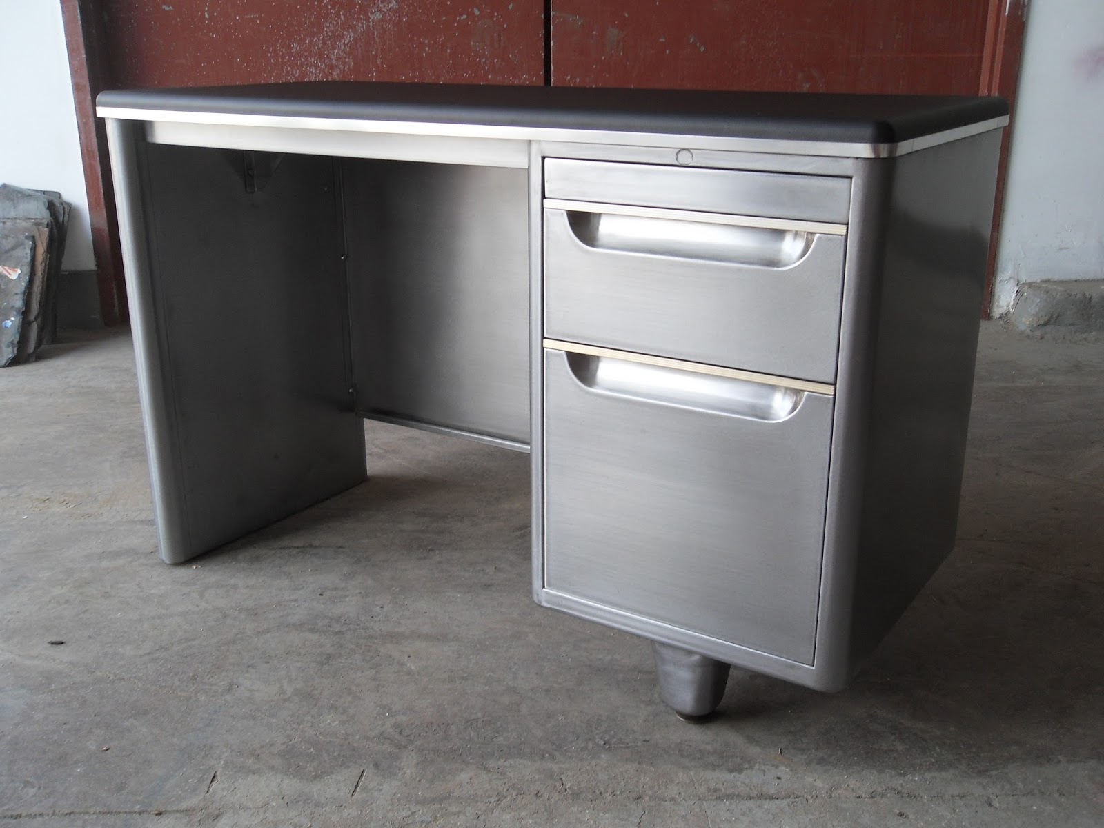 rehab tanker pedestal special desk order single image natural refinished cropped