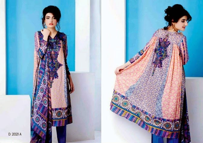 Embroidered Cotton Lawn 2014