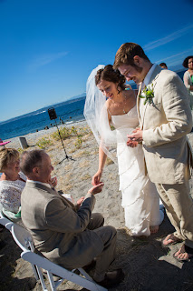 """Warming"" of the wedding rings - Patricia Stimac,Seattle Wedding Officiant"