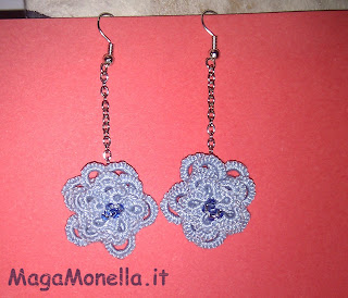 tatting earrings - orecchini a chiaccheirino -
