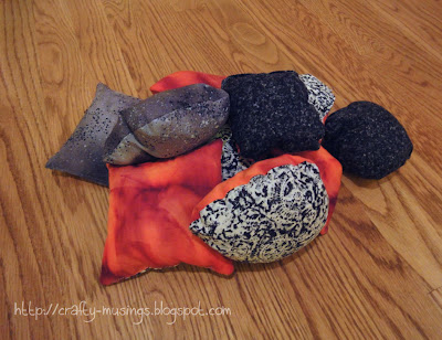 homemade bean bag lava rocks
