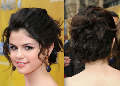 Prom Hairstyles Messy Side Bun