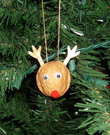 Walnut shell ornaments 1