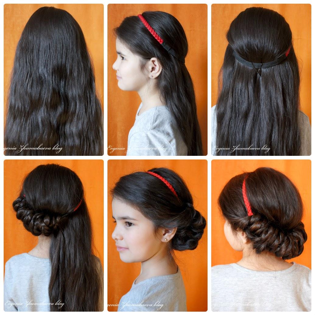 Как сделать прическу с повязкой для волос фото