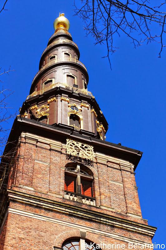 Vor Frelsers Kirke Tower Copenhagen Denmark