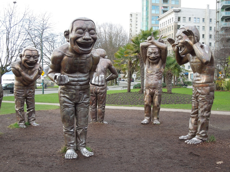A-maze-ing Laughter statues