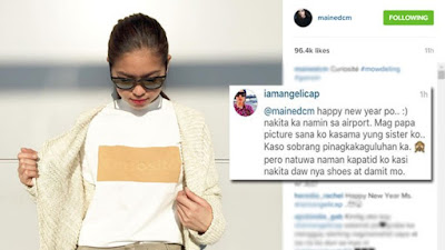 Angelica Panganiban's comment on Maine Mendoza's post