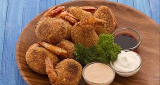 Recette des croquettes aux pois chiches et aux crevettes