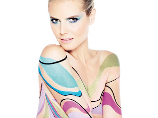 Heidi Klum nude bodypaint for Astor Cosmetics UHQ