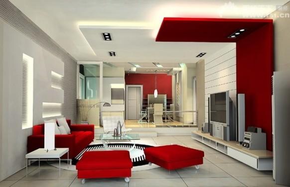 Diseños Elegantes y Lujosos de Salas de Estar con colores Blanco y