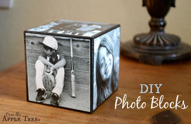DIY Photo Blocks, Over The Apple Tree