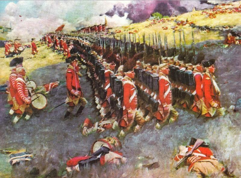 BATTLE OF BUNKER HILL 1858 ANTIQUE ENGRAVING REVOLUTIONARY WAR HISTORY ...