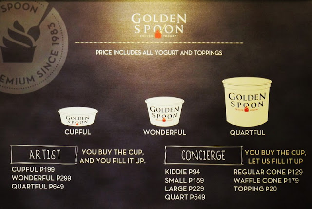 Golden Spoon Artist and Concierge Prices