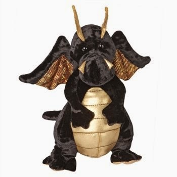 Merlin the Black Dragon Stuffed Animal