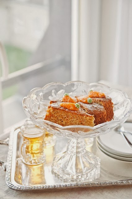 torta di carote light senza burro / light carrot cake without butter
