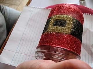 Frascos con Diseños de Navidad, Manualidades Recicladas