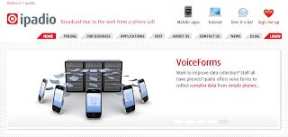 screenshot of the iPadio.com website