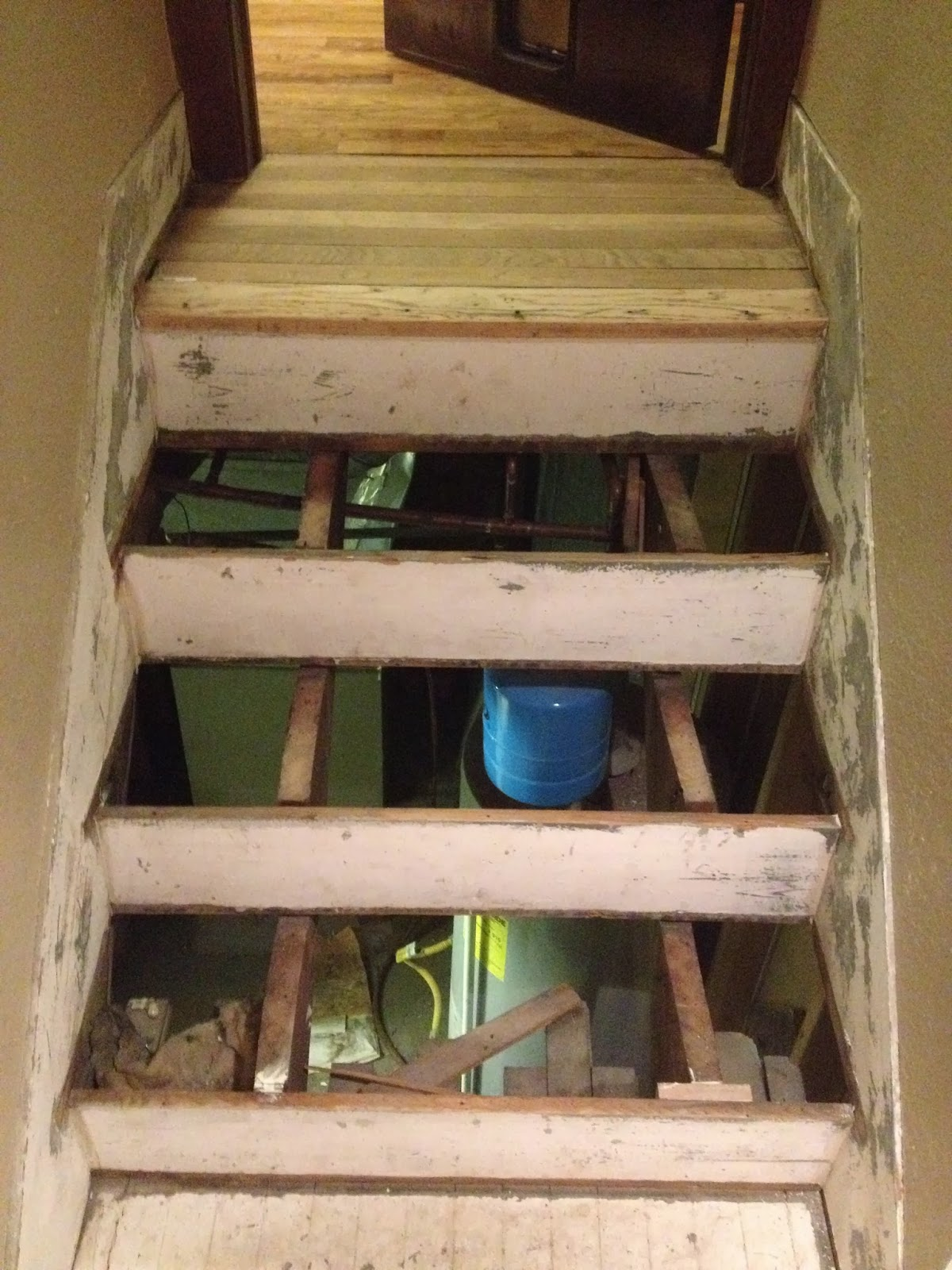 Refinishing Basement Stairs Refinishing The Basement Stairs Before And After Brookside