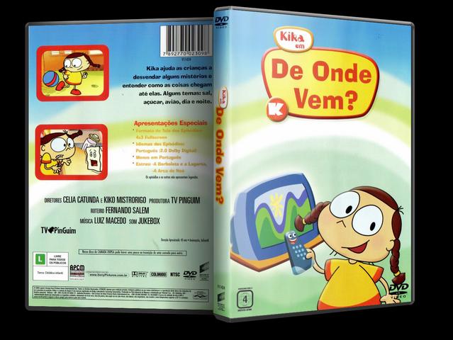 Capa DVD Kika Em De Onde Vem?