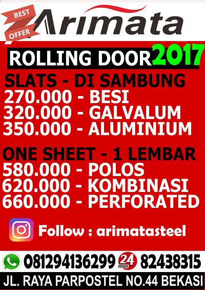 daftar harga rolling door