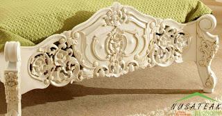 Imogiri French Style Bed Footboard - Nusa Teak