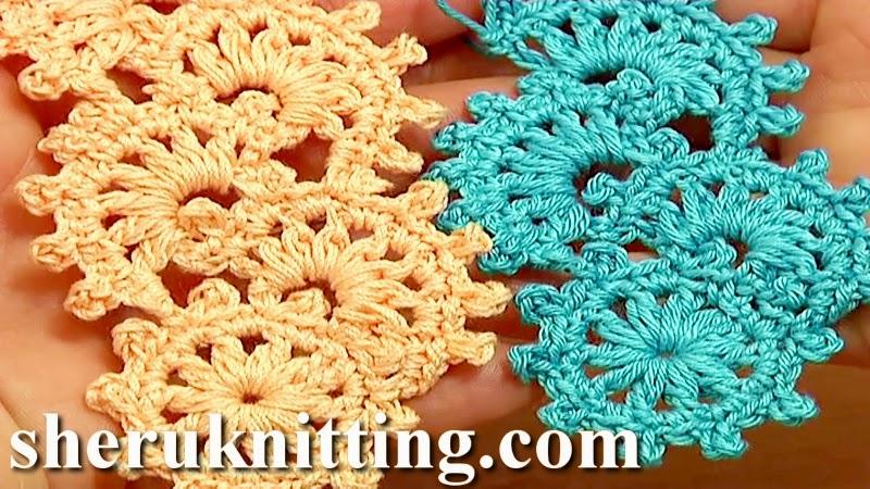 Sheruknitting: Crochet Puff Stitch Narrow Lace Tape ...