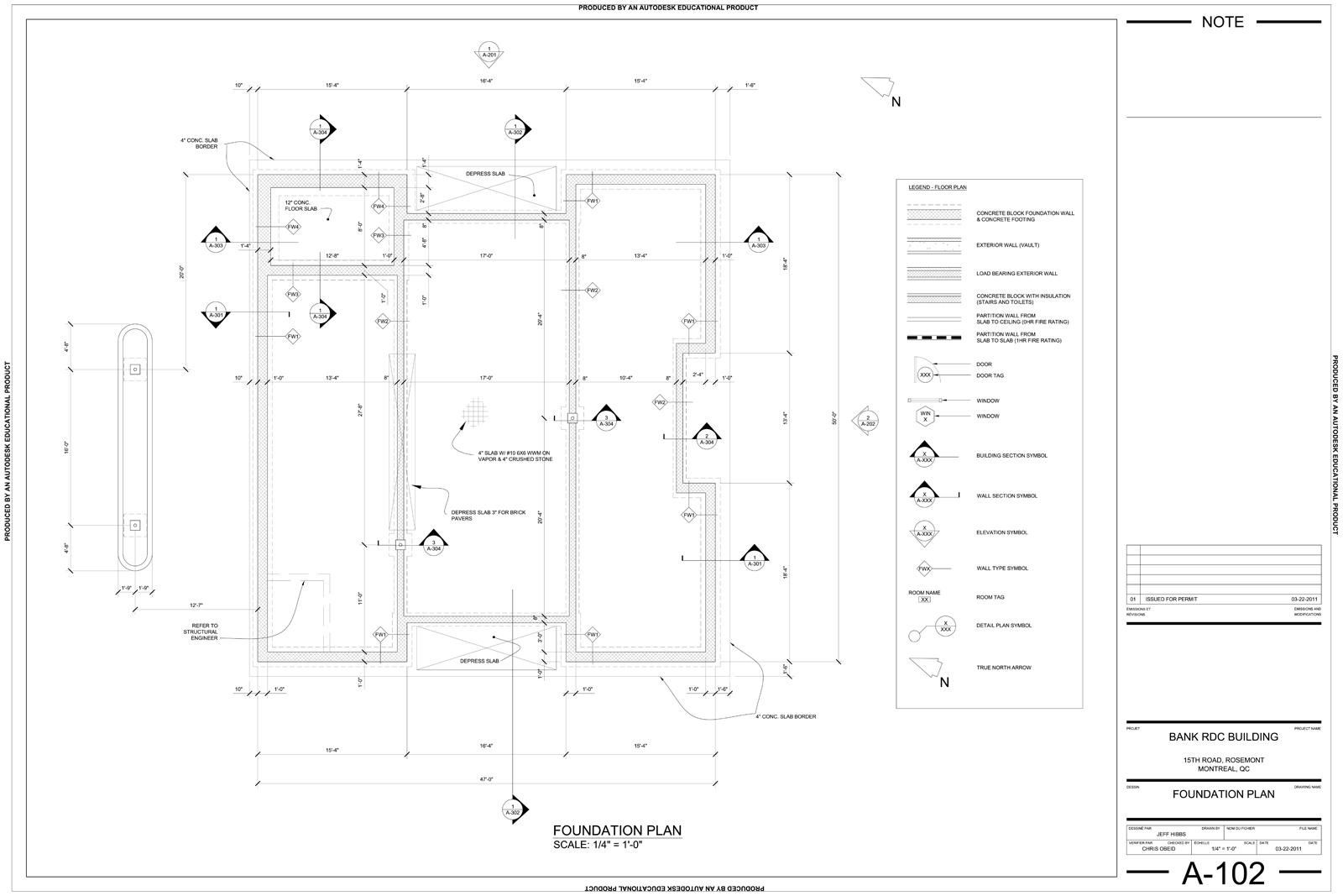 Jeff hibbs drafting portfolio autocad drawings for Foundation plan drawing
