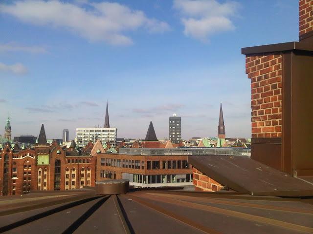 Blick vom Maritimen Museum aus - Blick in Richtung Innenstadt, Nordosten
