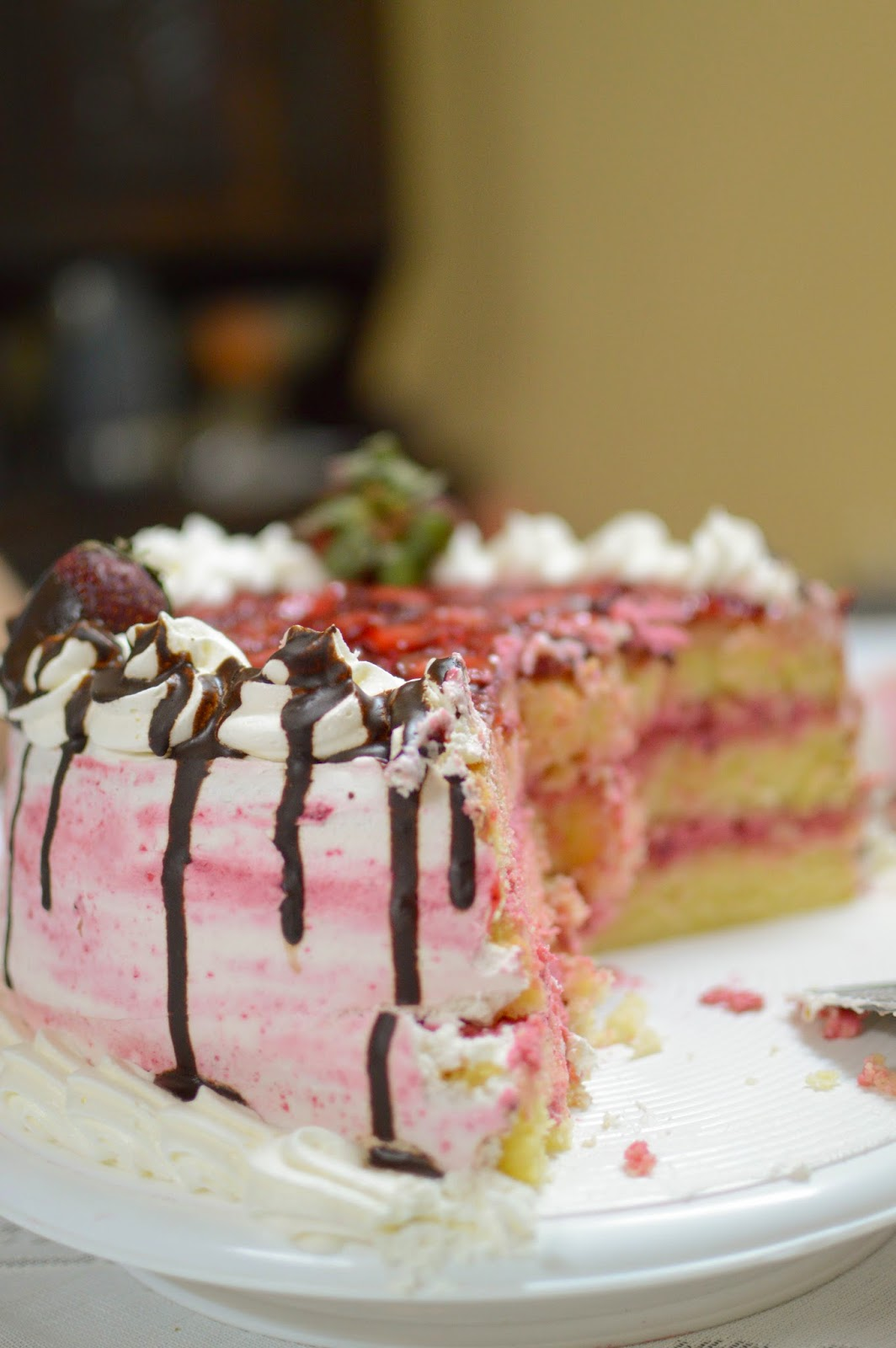 Baño Sencillo Para Tortas:ENDULZA TU ALMA: Torta de frutillas