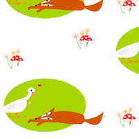 fox and goose pattern paper