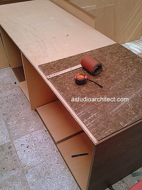 A diy weekend project cara membuat meja dapur gaya bar for Bikin kitchen set sendiri
