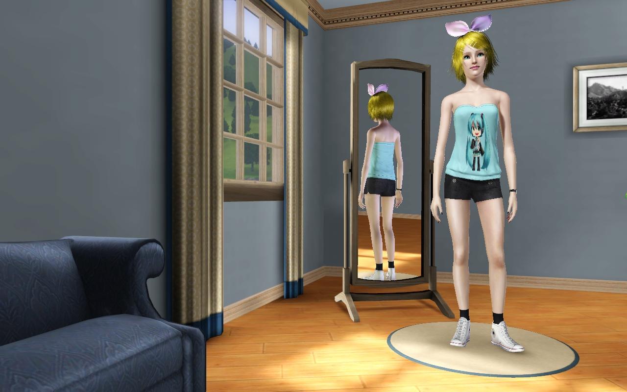 NG Sims 3sims 3 female clothes vocaloid t shirt