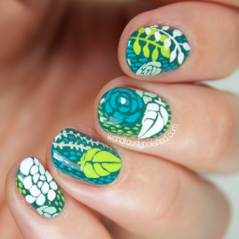 Wondrously Polished: Succulent Inspired Nail Art (yes, nail art!)