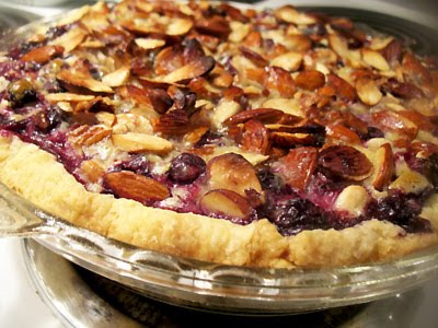 goat cheese blueberry pie