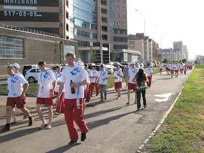 Универсиада 2013, Волонтеры идут на генеральную репетицию