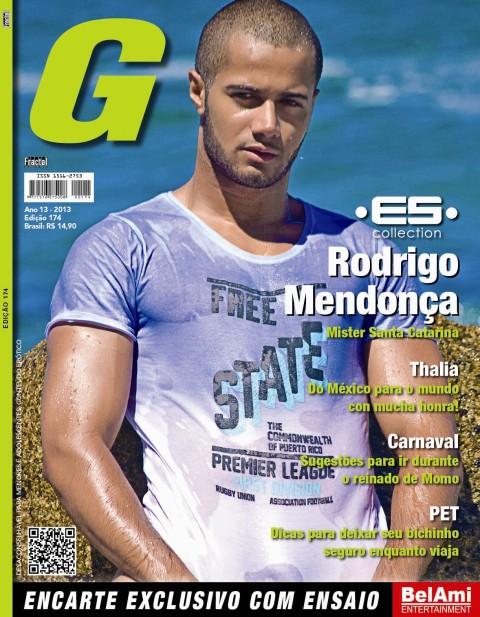 Rodrigo Mendonça, estampa a capa da G Magazine de fevereiro. Foto: Divulgação