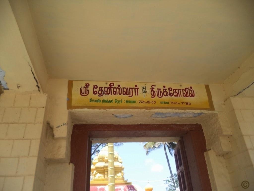 Theneeswarar Temple Door, Vellalore, Coimbatore