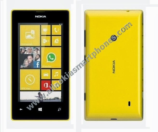 Nokia Lumia 525 RM-998 3G WiFi Windows Phone 8 Smartphone Front Back Black Yellow Photos Images Pics Review