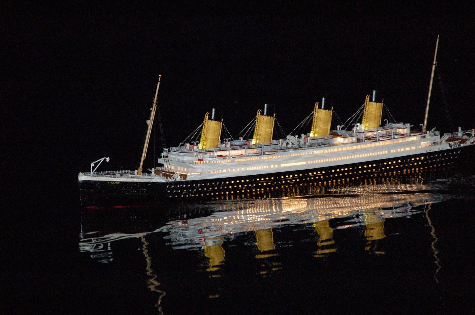 maquettes navigantes paquebot titanic