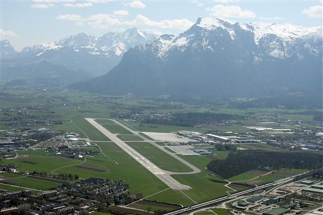 Birds view of Salzburg Airport