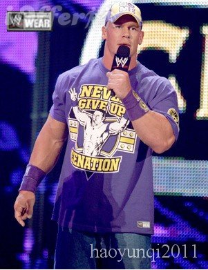 John Cena purple shirt