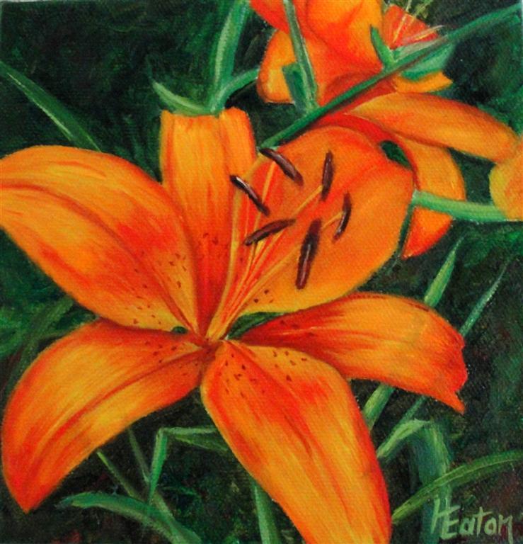 Word Weaver Art: Orange Lilies