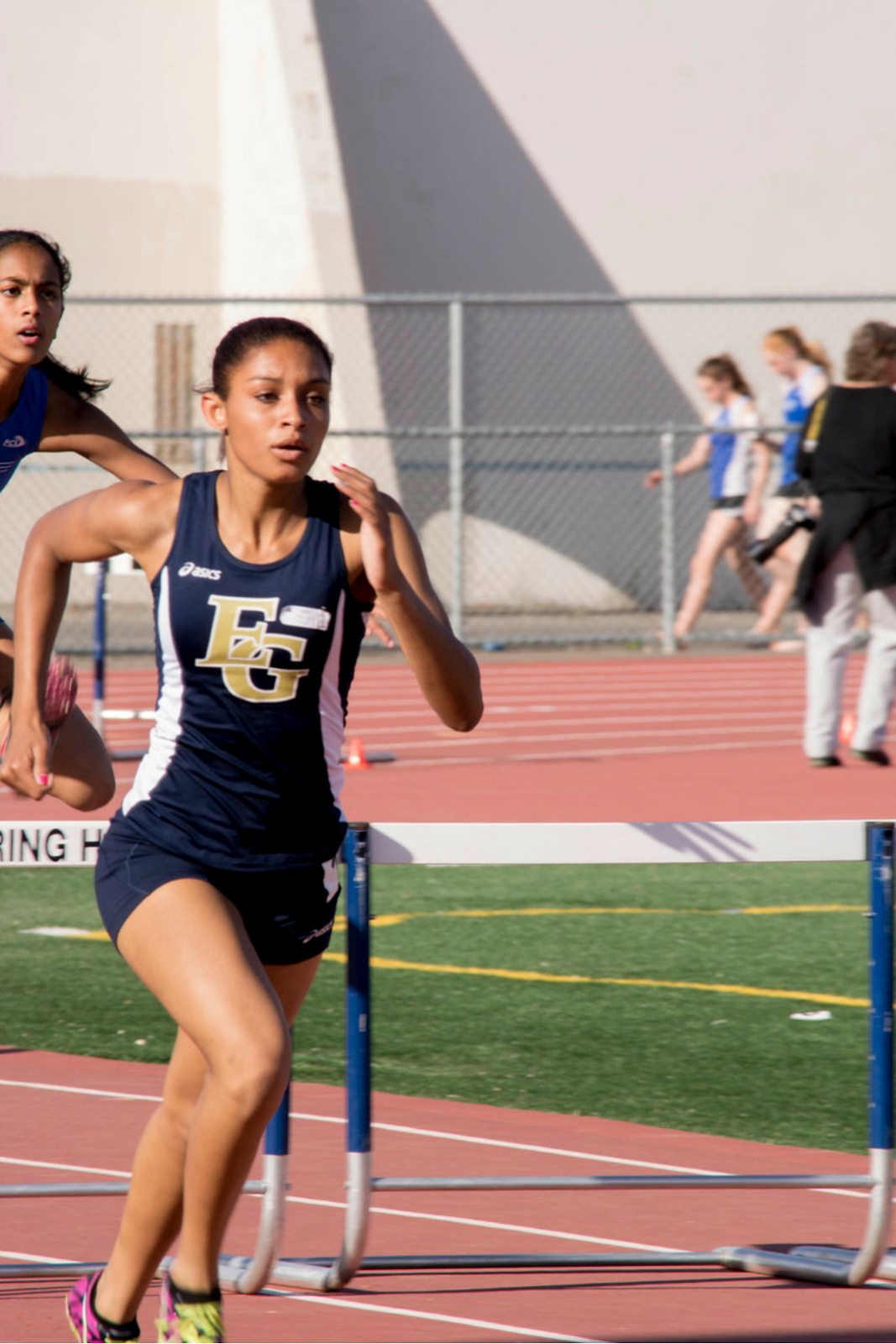 Leisure Leads EG Track Team Into DVC Trials Weds.