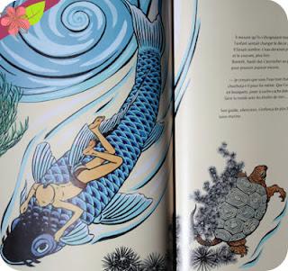 La Grande Vague - HOKUSAI illustration de Bruno Pilorget