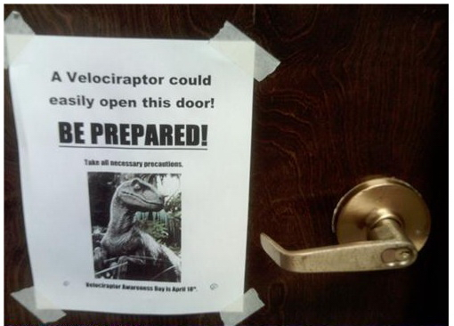 A Velociraptor Could Easily Open This Door! - Be Prepared!