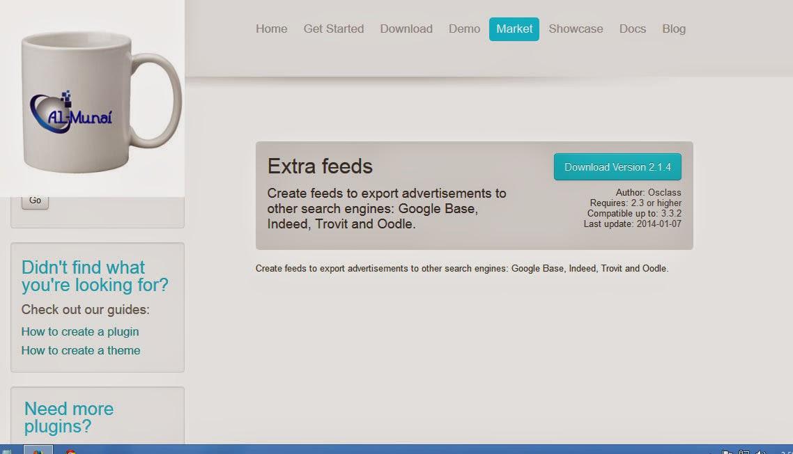 Gratis Plugin Extra Feeds Untuk Osclass 3.3.2