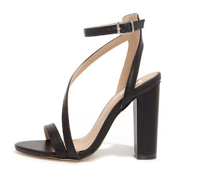 RSVP block heeled sandals in black