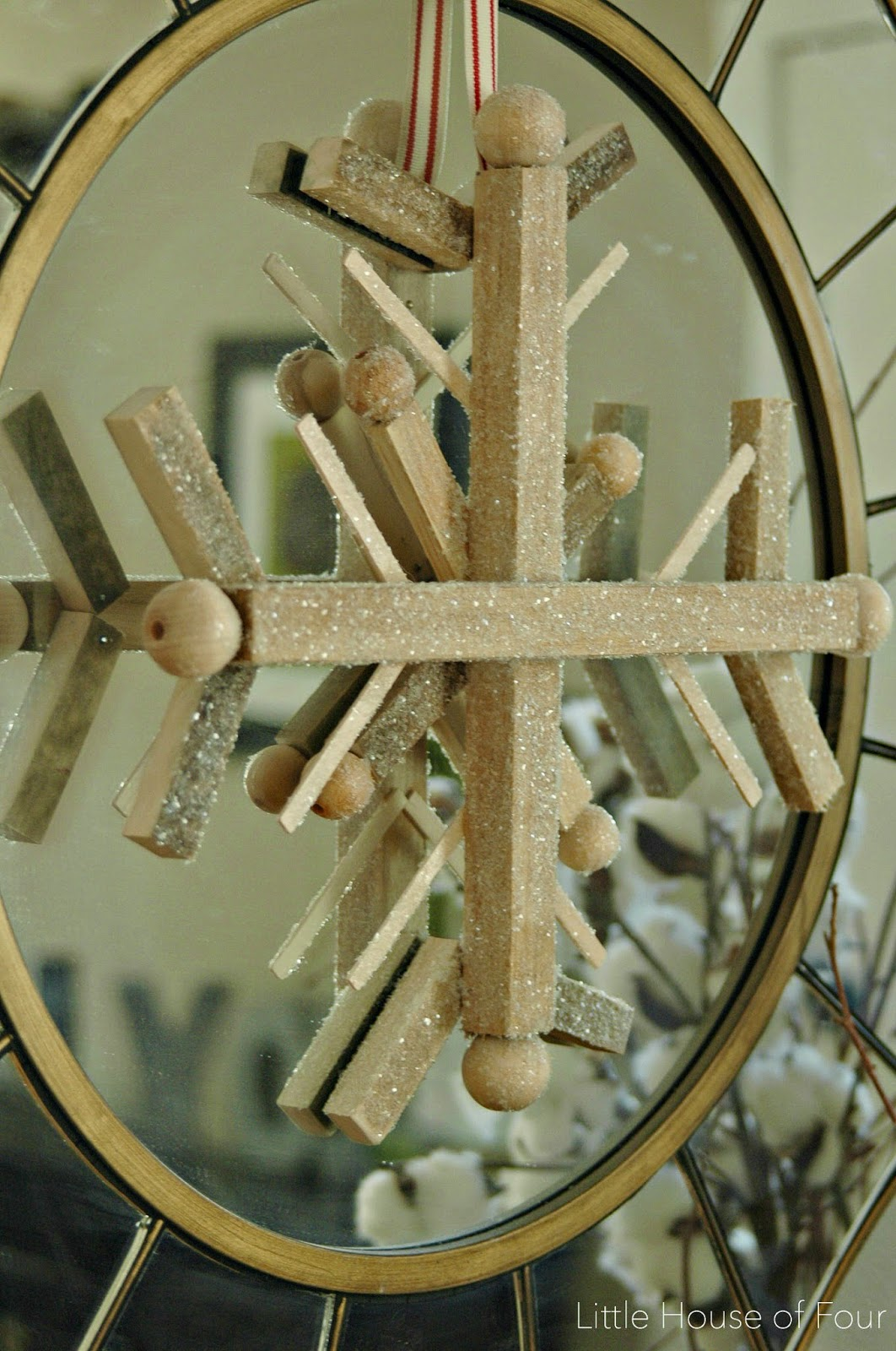 scrap wood snowflake