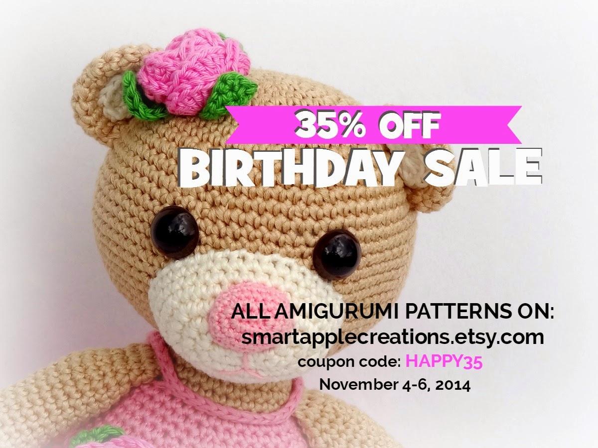 Amigurumi Patterns For Sale : Smartapple creations amigurumi and crochet birthday sale all